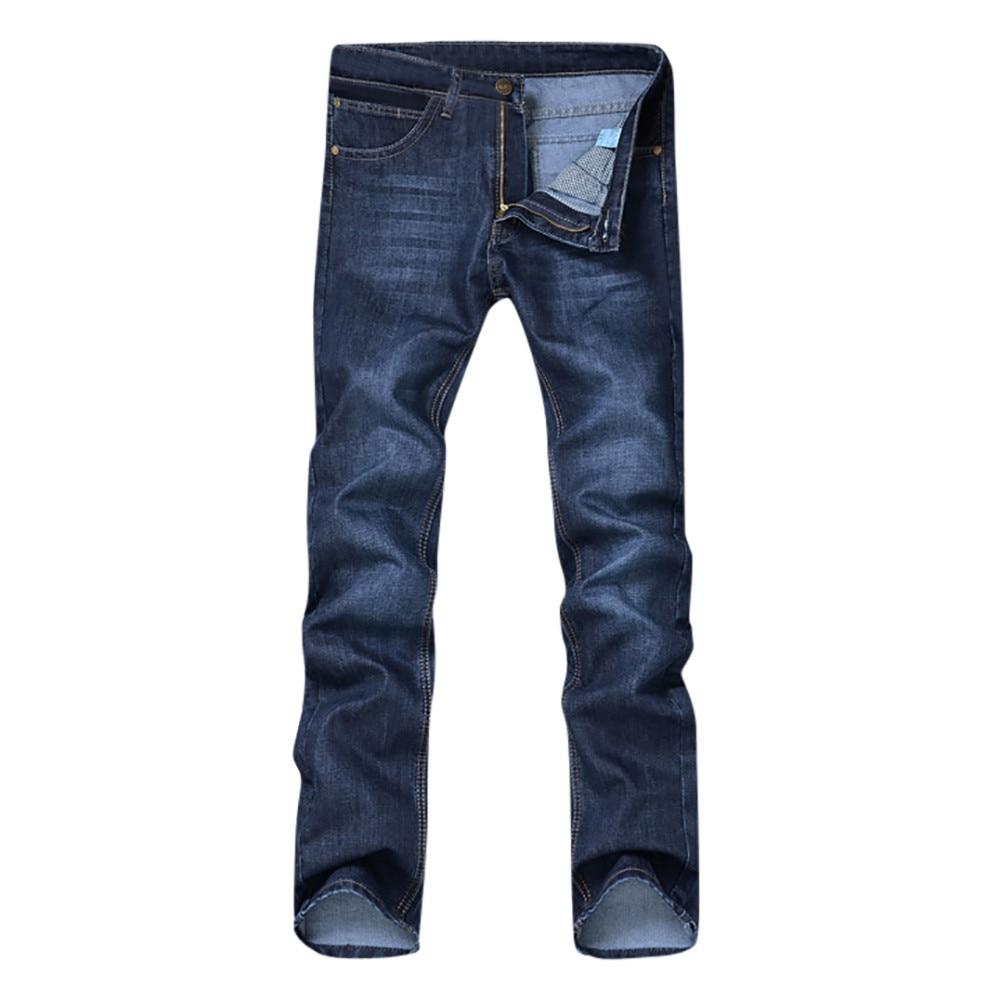 1PC Men Pants Men's Casual Autumn Denim Solid Cotton Hip Hop Loose Work Long Trousers Jeans Pants Men Cotton Daily C0413