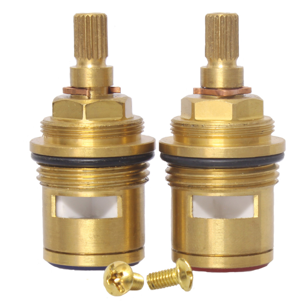 Pair Of Replacement Cartridge Bath Tap Valves Quarter Turn Ceramic 3/4