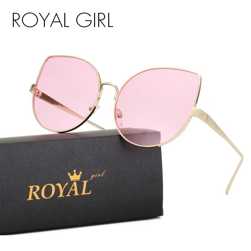 8685978944f339 ROYAL FILLE Cat Eye lunettes de Soleil Femmes Lunettes De Mode Oversize  Rétro Vintage Jaune Lentille Lunettes Haute Qualité Oculos UV400 ss929 dans  Lunettes ...