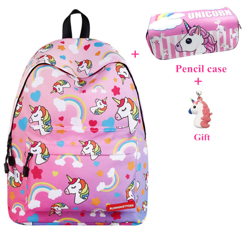 Unicorn Backpack Women Bag Fashion School Bags For Teenage Girls Sac A Main Bagpack Travel Bags Bolsa Feminina Mochila Infantil
