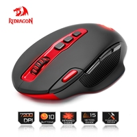 Redragon Wireless Gaming Mouse PC 7200 DPI 4 Backlight Mode 10 Programmable Buttons 2 4G Wireless