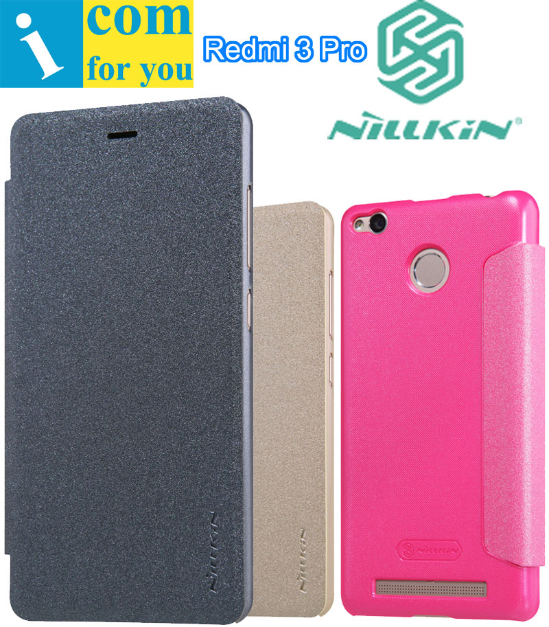 Nillkin Sparkle Flip Leather Case Cover For Xiaomi Redmi 3 Pro 3s 5 0 inch With