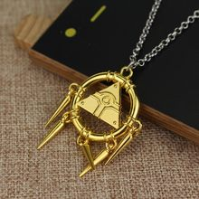 Hot Anime Game Jewelry Yugioh Millennium Items Puzzle Eye Necklace Pendant For Gifts Tassel Necklace for Women(China)