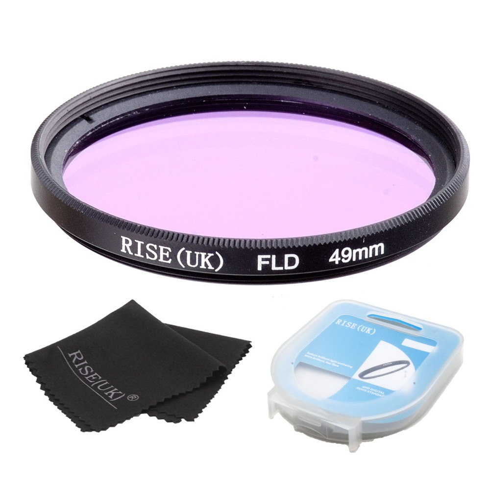 RISE 49mm FLD Lens Filter + case + cloth For Nikon Canon sony DLSR camera free shipping