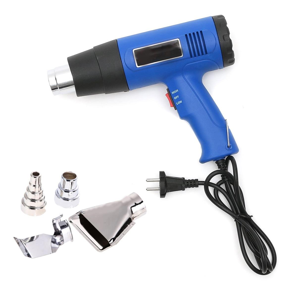 OSSIEAO New Hot Air Blower Dual Temperature+ 4 Nozzles Power Tool Set EU Plug 220V 1500W