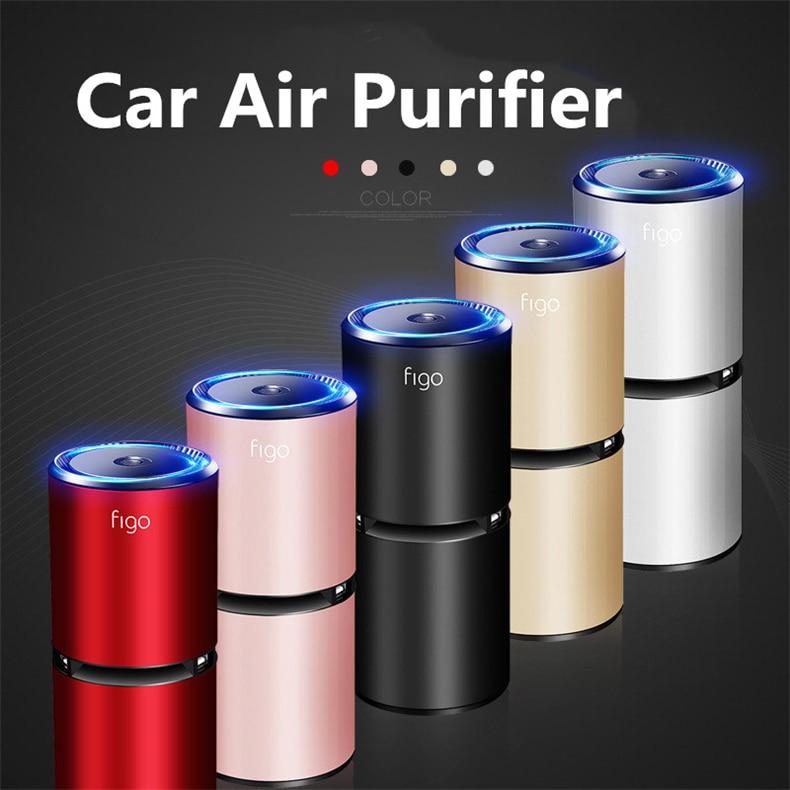 Car Air Purifier Cabin Ionizer Freshener Odor Eliminator Air Filter Oxygen Bar Portable Ionic Cleaner USB Remove Odor Smoke