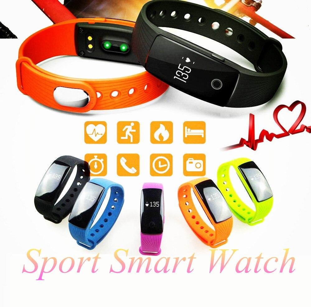 imágenes para Deporte smart watch hombres pasómetro banda inteligente pulsera bluetooth 4.0 monitor del ritmo cardíaco activo perseguidor del deporte pulsera smartwatch
