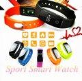 Homens do esporte smart watch passometer banda inteligente pulseira bluetooth 4.0 heart rate monitor de perseguidor ativo esporte pulseira smartwatch