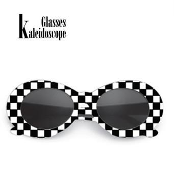 Okulary kalejdoskopowe damskie okulary przeciwsłoneczne es NIRVANA Kurt Cobain okulary przeciwsłoneczne okulary ochronne Retro damskie okulary przeciwsłoneczne męskie kobiece okulary tanie i dobre opinie Kaleidoscope Glasses Owalne Dla dorosłych Octan Lustro 50MM Z tworzywa sztucznego 55MM 200002146 200001267