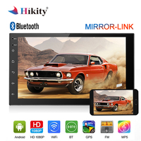 Hikity Car Multimedia Player 2 din Android Radio Universal 7 Touch Screen MP5 Player Autoradio Support BT GPS USB Mirrorlink