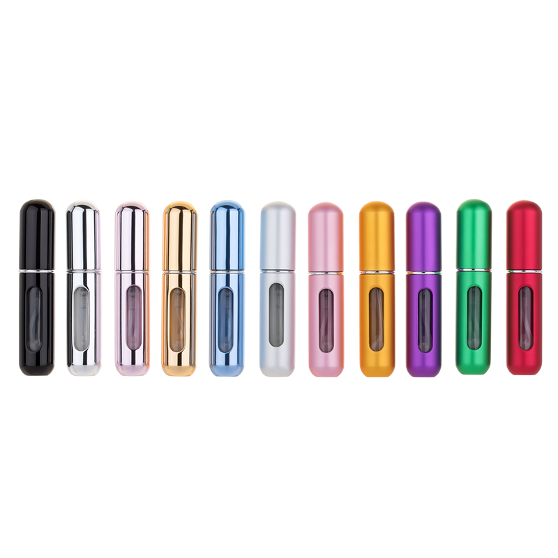 5ml 8ml Refillable Mini Perfume Spray Bottle Aluminum Spray Atomizer Portable Travel Cosmetic Container Perfume Bottle
