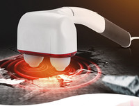 Handheld Compact Percussion Massager Therapy Device With Heat Muscle Relief Massage Hammer