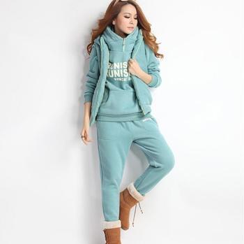 3pcs Suit Winter Warm Hooded
