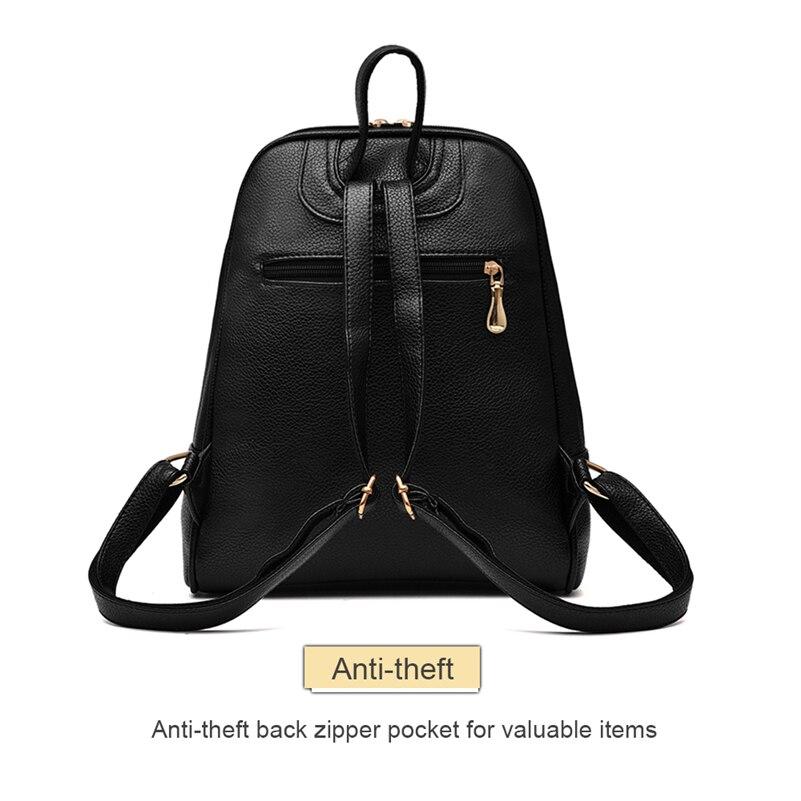 HTB1cF4LSYPpK1RjSZFFq6y5PpXan Nevenka Leather Backpack Women Solid Backpacks Light Weight Bag Cute Top Handle Backpacks for Girls Mini Backpack Female Bagpack