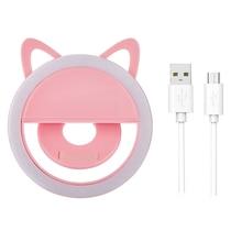 USB зарядка светодиодный кольцевой светильник для селфи объектив для мобильного телефона Светодиодная лампа для селфи Кольцевая вспышка для iPhone для samsung Xiaomi телефон селфи светильник