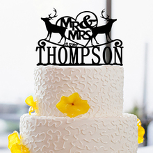 Decoration Cake Toppers For Wedding , Family Personalized Cake Toppers Custom Name and Date Cake Toppers Custom