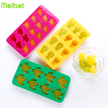 Cartoon Silicone Mold for Ice Cream Maker DIY Cube Tray Kitchen Tool Fruit Wine Barware