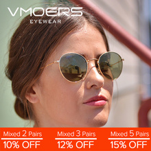 VMOERS Retro Round Sunglasses Women Men Brand Designer Sun Glasses For Women Men Vintage Classic Oculos Shades Pink Blue Mirror цена 2017