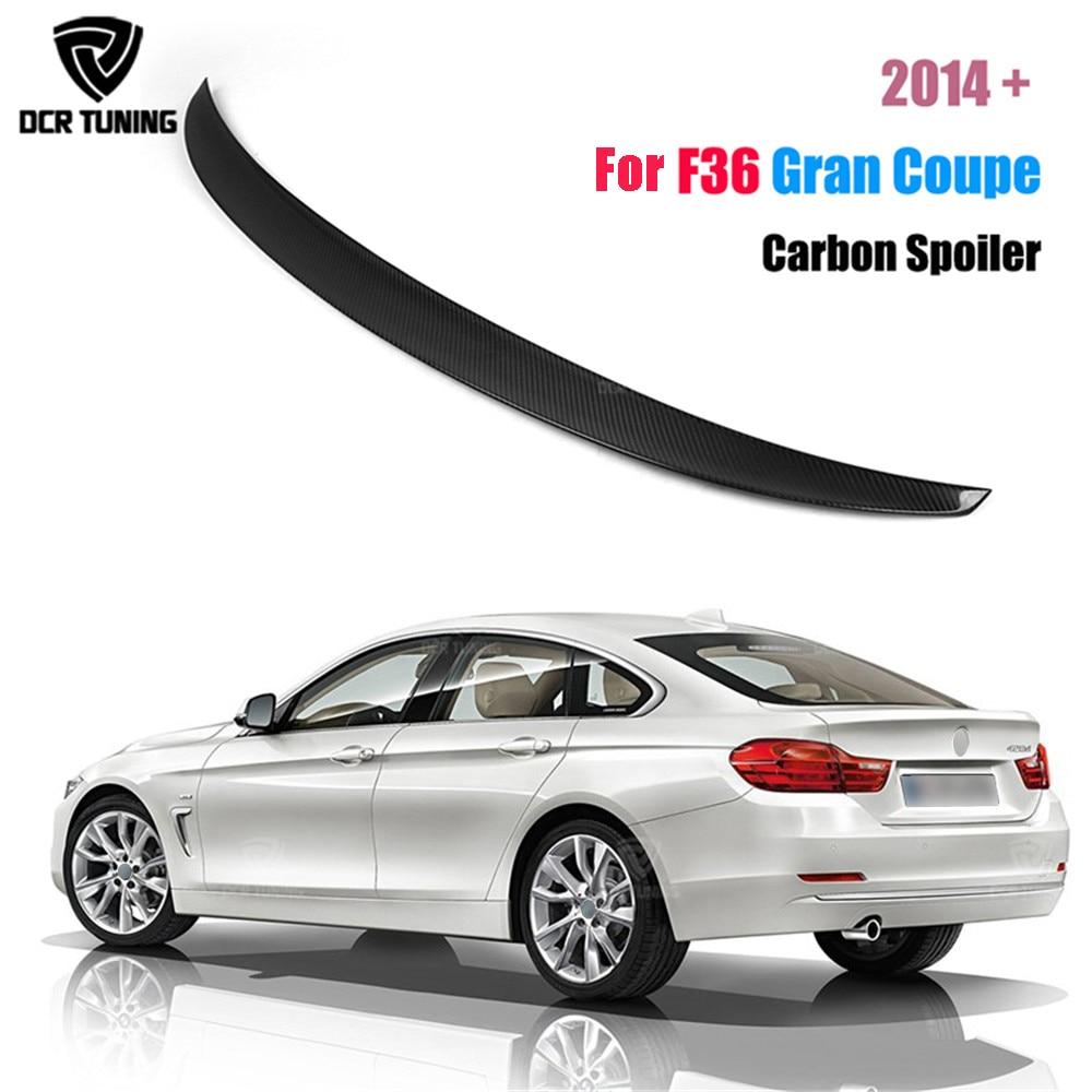 P Style For BMW F36 Spoiler Carbon Fiber 4 Series 4 Door Gran Coupe F36 Carbon