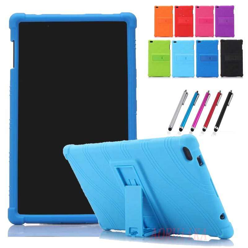 child Safety shockproof protection Tablet cover Case For Lenovo Tab E8 8.0 inch Thickened silicone TB-8304F1 Stand Cover black