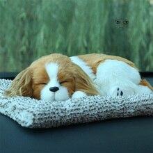 Украшение автомобиля, плюшевая имитация, милая Спящая собака, щенок, приборная панель, украшение автомобиля, интерьер, домашний декор, аксессуары, подарки, кукла