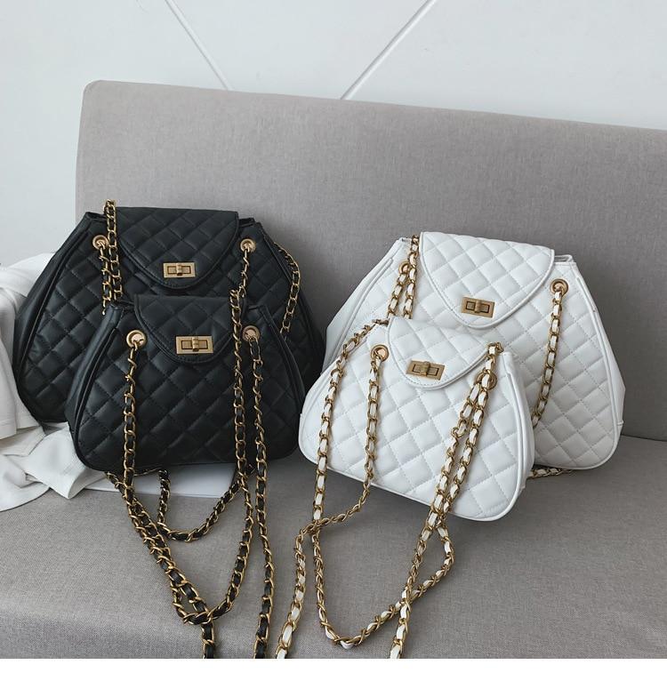Luxury Brand Handbag New Quality PU Leather Women's Designer Handbag Classic Lattice Chain Large Shoulder Messenger Bags