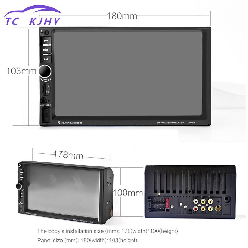 2018 Auto 2-din Support Aux Fm Usb Sd Card 7 Inch Bluetooth Tft Screen Car Audio Stereo Mp4 Player 12v Car Autoradio Player 7 inch dual core bluetooth tft screen 2 din car audio stereo mp5 player 12v auto support aux fm usb sd mmc 7012b page 6