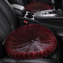 2019 New Mink Fur Sofa Floor Round Cushion Square Handmade Real Warm 100% Car Luxury