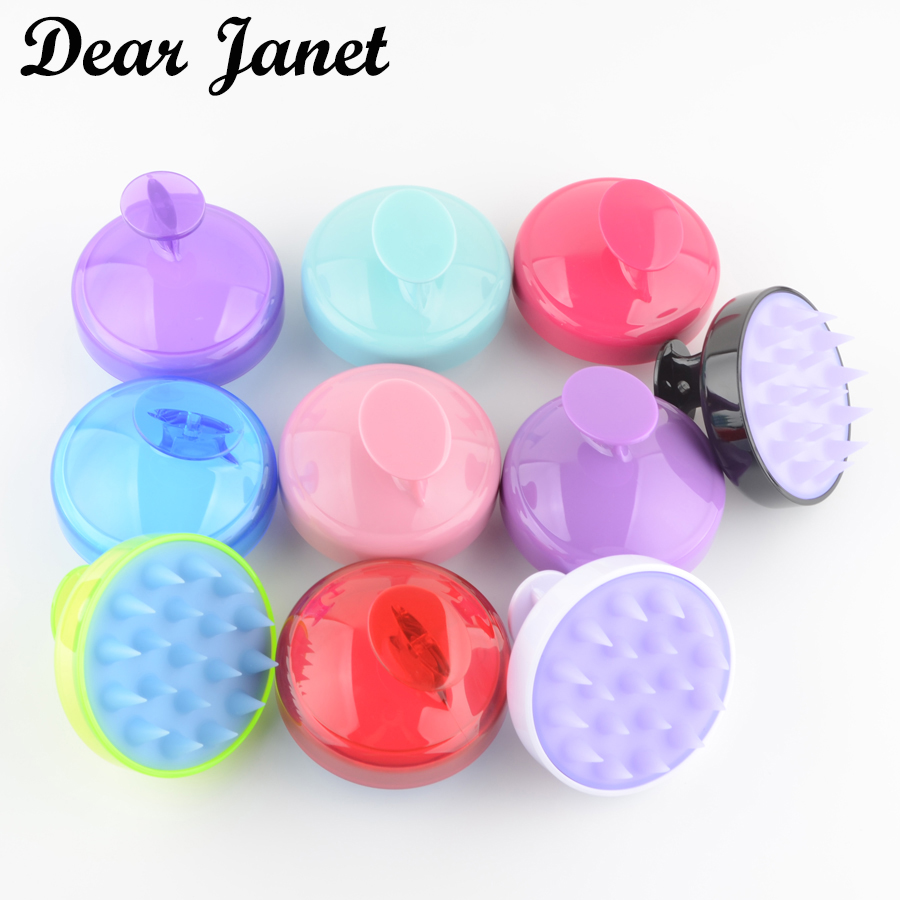 1pc Massage Scalp Hair Brush Shampoo 10 Colors Soft Silicone Teeth Massager Comb Drop Shipping