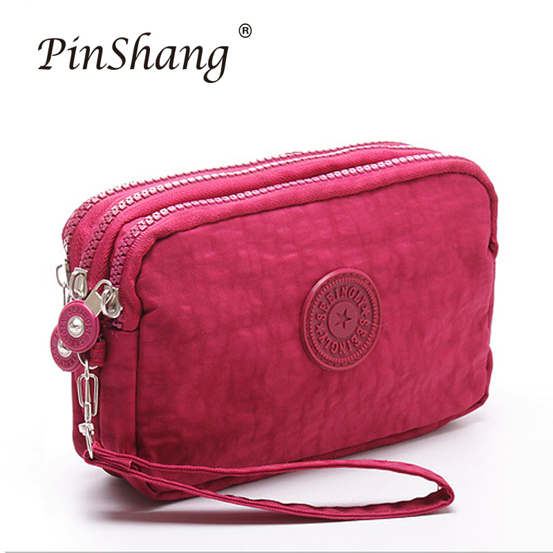 2019 Wallet Fashion 3 Layers Handbag Zipper Long Purse Large Capacity Phone Coin Bag High Quality Simple Ladies Clutch Zk30
