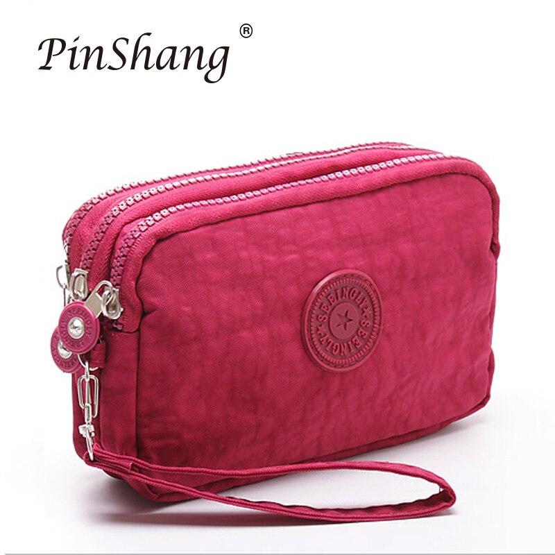 Women Wallet Fashion 3 Layers Handbag Zipper Long Purse Large Capacity Phone Coin Bag High Quality Simple Ladies Clutch Zk30