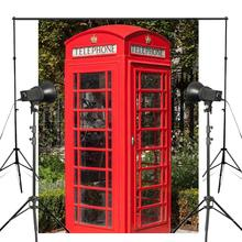 150x220cm Retro Red Telephone Box Photo Background London Call Tool Backdrop European theme Photography Studio Props