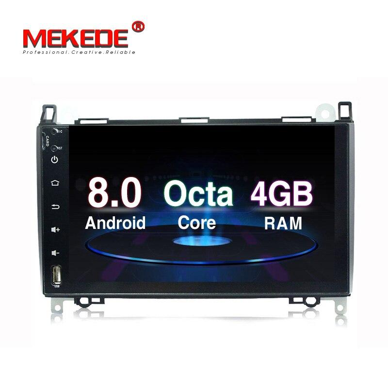 Good news!4G RAM pure android8.0 car radio for Mercedes/benz B200 A160 Sprinter W906 w169 w245 W209 Viano Vito B200 GPS 4G LTE carmonitor player autoradio for mercedes benz b200 sprinter w209 w169 b200 a class w169 b class w245 b170 multimedia gps radiofm