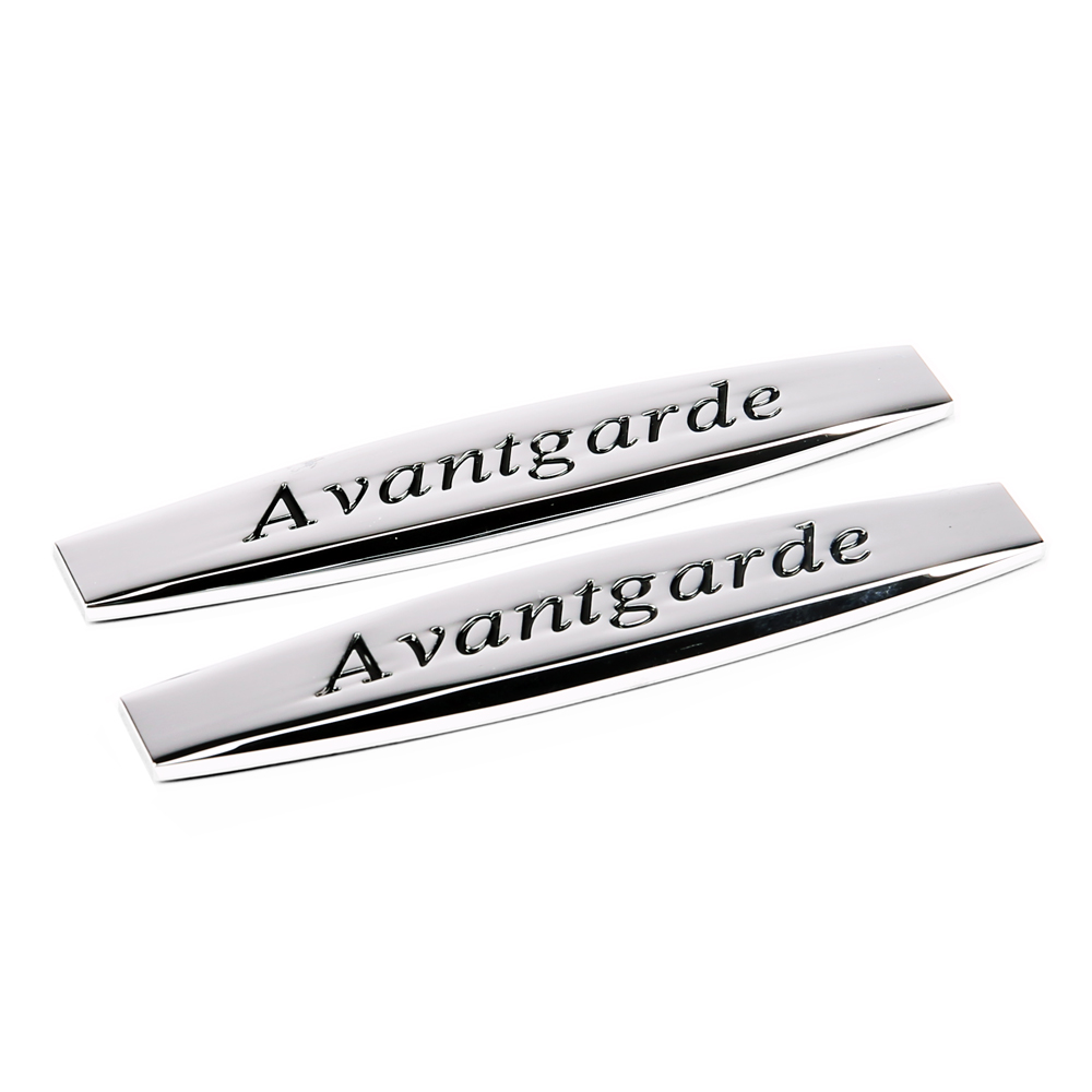 2pcs Car Fender side Emblem Badge Decal rear trunk Sticker for Avantgarde logo Mercedes Benz C E w203 w204 w211 cls slk w205 cla car styling for mercedes benz g series w460 w461 w463 g230 g300 g350 chrome number letters rear trunk emblem badge sticker