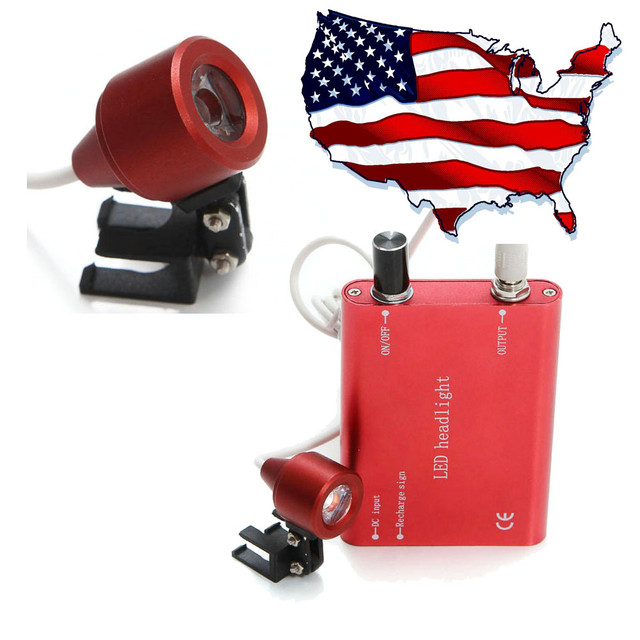 2017 Portable Red LED Head Light Lamp for Dental Surgical Medical Binocular Loupes