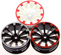 """1:10 RC Model Car Wheel Rims Offset 6 mm Fit 1.9"""" Tyre  for HSP HPI Redcat HIMOTO Racing COOL Drift"""