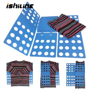 Jakość dorosłych dzieci magiczne ubrania Folder koszulki z krótkim rękawem bluzy organizator krotnie oszczędzaj czas szybkie ubrania składana tablica uchwyt na ubrania tanie i dobre opinie ishiline Z tworzywa sztucznego gh0018