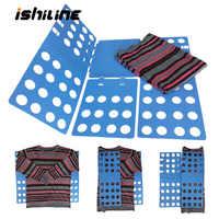Qualidade adulto crianças roupas mágicas pasta t camisas jumpers organizador fold economize tempo roupas rápidas dobrável placa de suporte de roupas