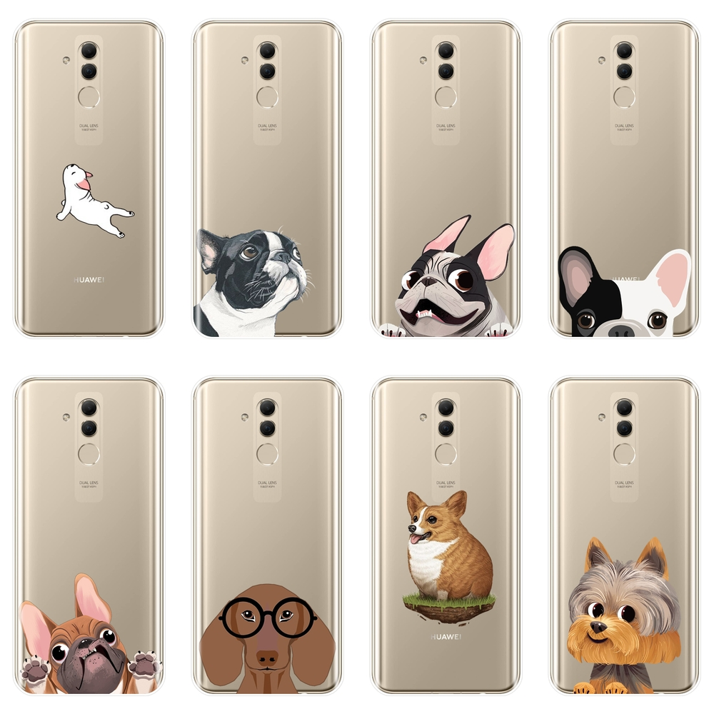 <font><b>Phone</b></font> <font><b>Case</b></font> For Huawei Mate 9 10 20 Lite Silicone Soft Pug Dog French Bulldog Corgi Back Cover For Huawei Mate 7 8 9 10 20 Pro image