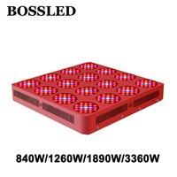 BOSS светодио дный LED Goldenring Serie 840 Вт/1260 Вт 1890 Вт светодио дный 3360 Вт LED grow light полный спектр для комнатных растений растет широкий охват светодио