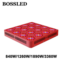 BOSS светодио дный LED Goldenring Serie 840 Вт/1260 Вт 1890 Вт светодио дный 3360 Вт LED grow light полный спектр для комнатных растений растет широкий охват светодио дный LED grow light