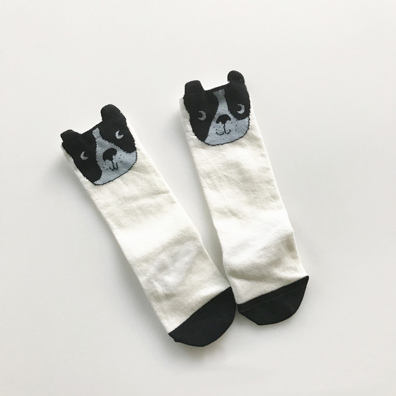 Cute Kids Knee High Socks Tiny Bumbac Sosete Long Tube 3D Sosete - Haine copii