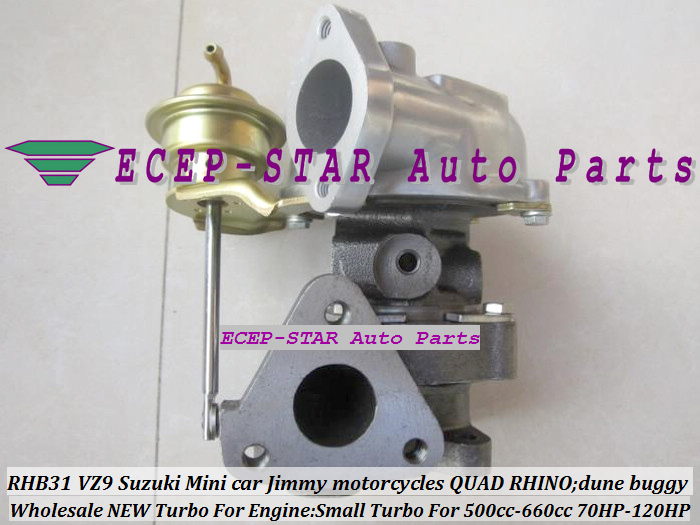 100% новый RHB31 VZ9 13900 80710 маленький турбо для SUZUKI Jimny мини автомобиль 500 660cc мотоцикл QUAD RHINO Багги изменить 70 120HP