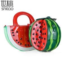 Creative Fashion Women handbags fruit bag watermelon bag ladies sweet shoulder bags cartoon crossbody bags lady clutch purse sac