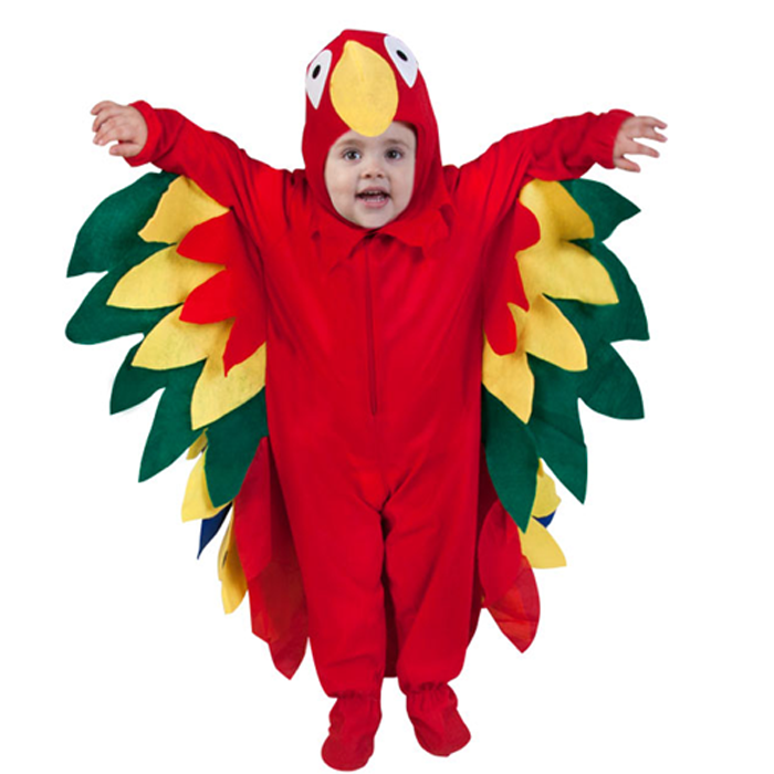Beautiful Color Parrot Costume Toddler Animal Theme Halloween Cosplay