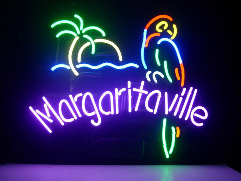 Neon sign for jimmy buffett margaritaville paradise parrot signboard neon sign for jimmy buffett margaritaville paradise parrot signboard real glass beer bar pub display light signs 1714 in neon bulbs tubes from lights aloadofball Choice Image