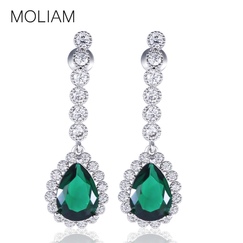 Moliam High Class Dangle Earrings For Female Silver Color