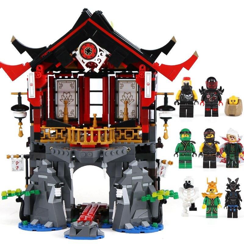 Lepin 06078 Ninja Toys Series compatible legoinglys 70643 Temple of Resurrection Set Building Blocks Bricks Kids Christmas Gifts марк бойков 泰坦尼克之复活 возвращение титаника resurrection of titanic