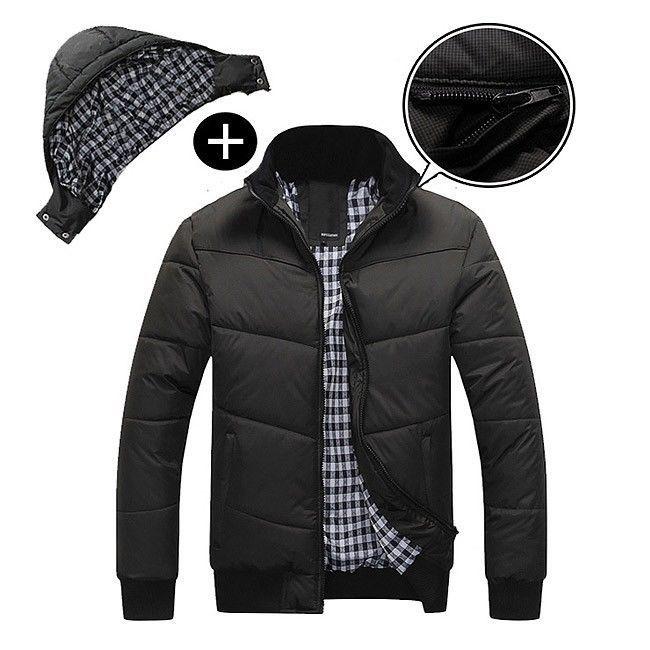 2018 남성 겨울 후드 퀼트 자켓 따뜻한 패션 남성 퍼프 오버 코트 Parka Outwear 겨울면 패딩 후드 코트 남성