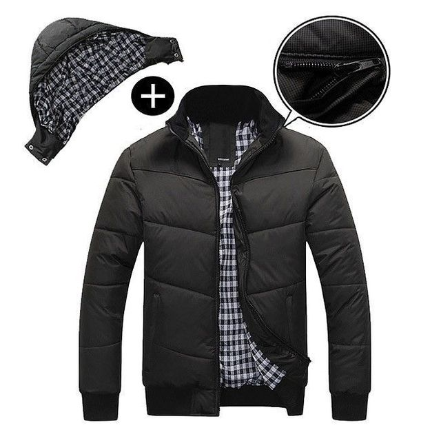 Men's winter Hoodies Quilted Jacket Warm Fashion Male Puffer Overcoat Parka Outwear Winter Cotton Padded Hooded Down Coat Men